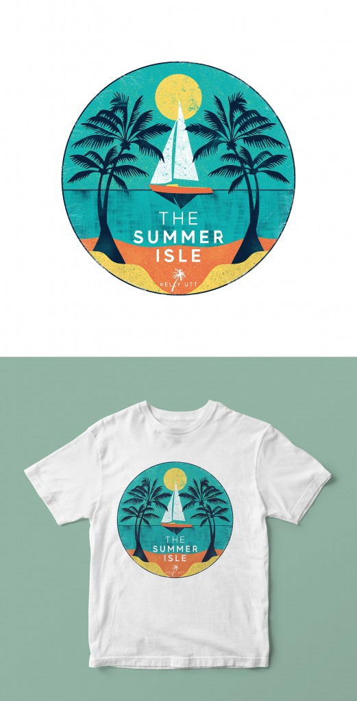 Custom t-shirt design for The Summer Isle