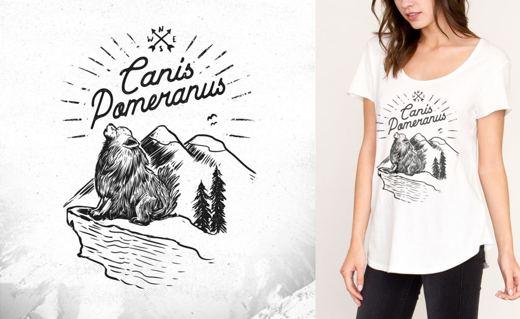 Custom t-shirt design for Canis Pomeranus